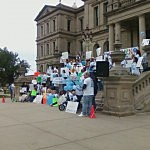 Rally in Lansing for Dominick's Law